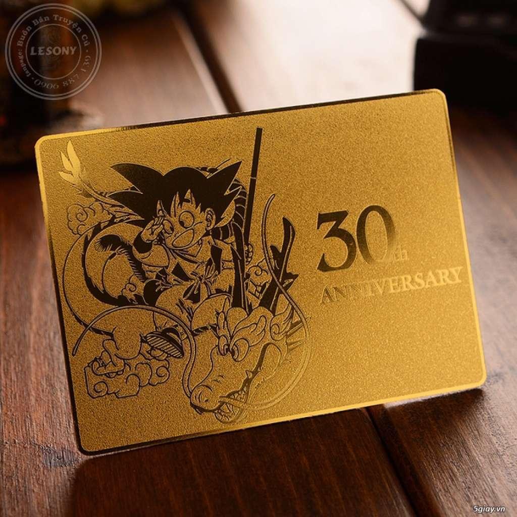 Thẻ kim loại mạ vàng kỷ niệm 30 năm Dragon Ball-Limited Edition! - 1