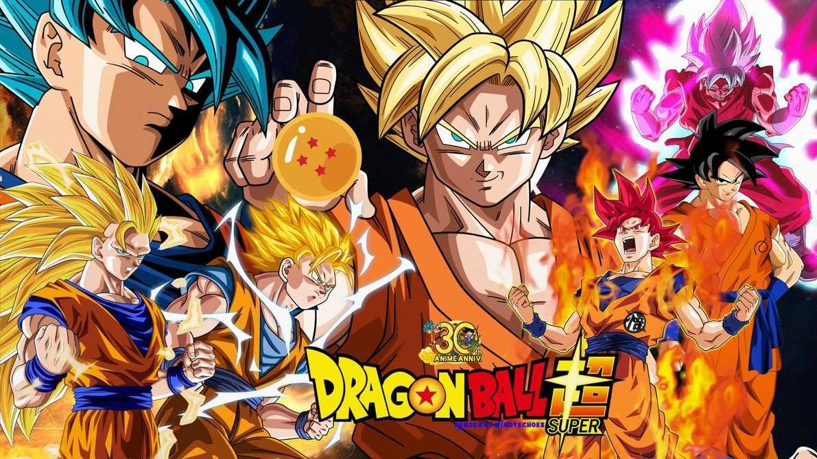 Dragon Ball Super Wallpaper - Goku's Evolution by WindyEchoes