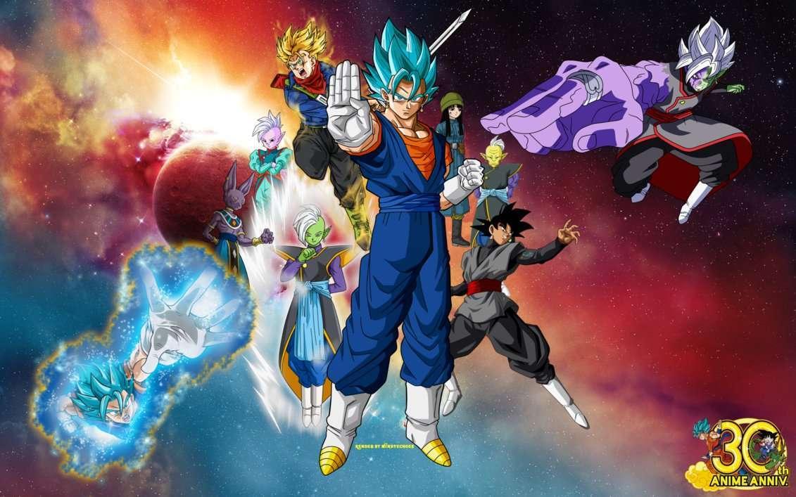 Vegito Super Saiyan Blue Fusion Wallpaper by WindyEchoes