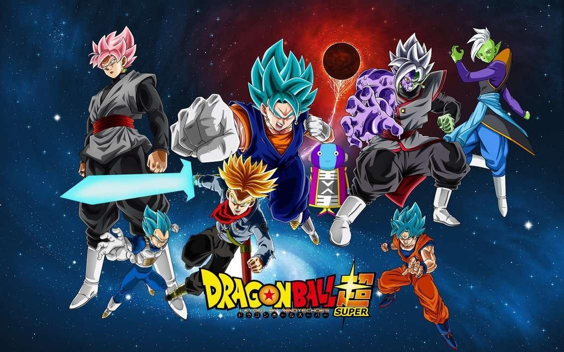 Zamasu And Goku Black Fusion Wallpaper by WindyEchoes