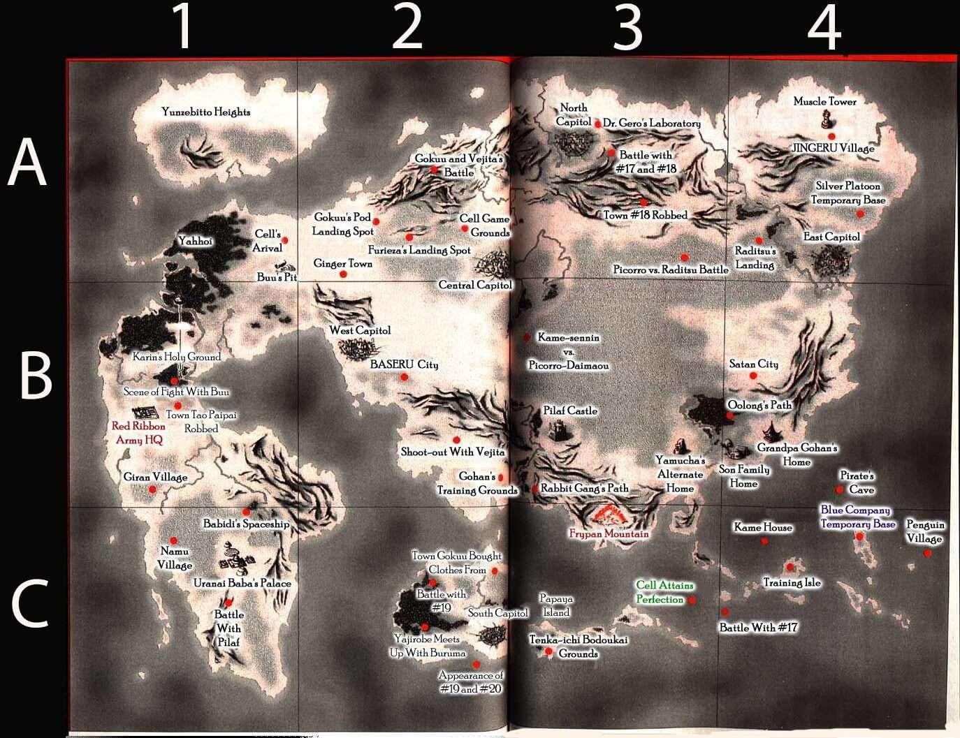 Bản đồ thế giới Dragon Ball