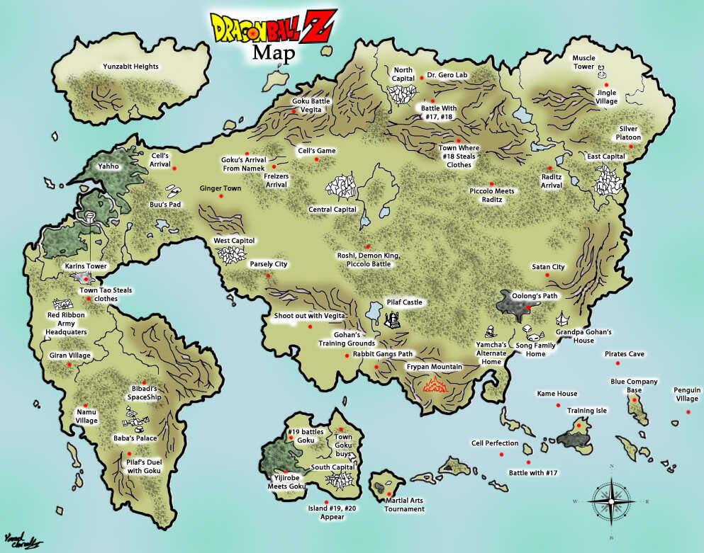 các địa danh trong dragon ball